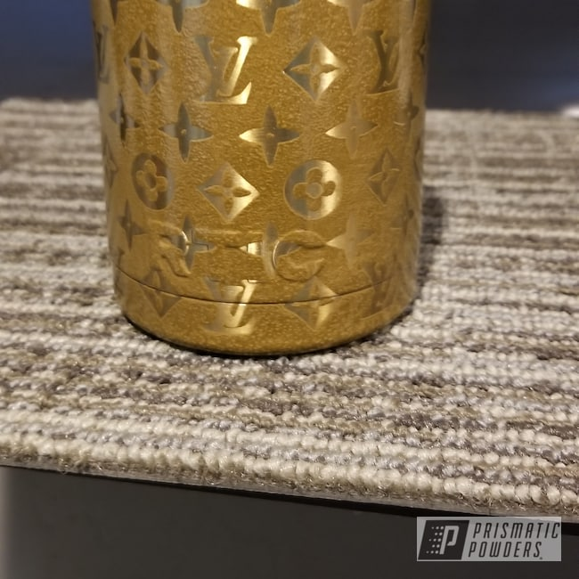 """Powder Coating: 10"""",RTIC,Brown/Tan PVS-4347,Transparent Gold PPS-5139,Can Koozie"""