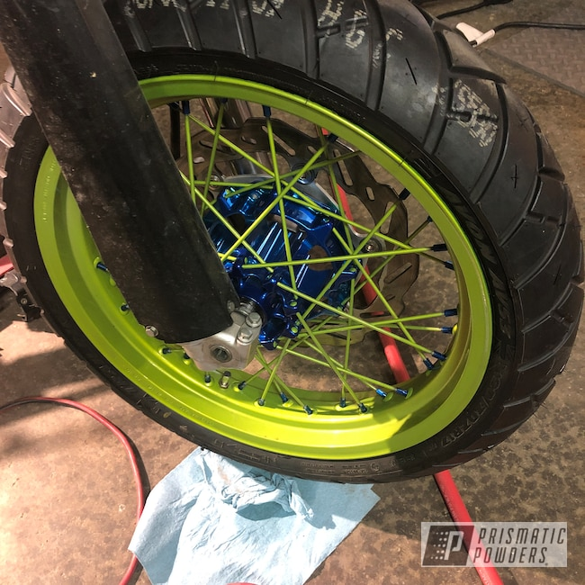 "Powder Coating: Clear Vision PPS-2974,SUPER CHROME USS-4482,Motorcycle Rims,Yamaha,Peeka Blue PPS-4351,wr250,17"" Wheels,wr250x,Motorcycles,Illusion Shocker PMB-10050"