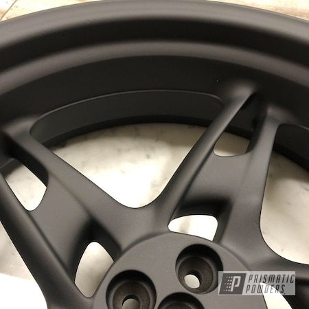 "Powder Coating: Motorcycle Rims,Ink Black PSS-0106,BMW,17"" Wheels,Motorcycles,Casper Clear PPS-4005"