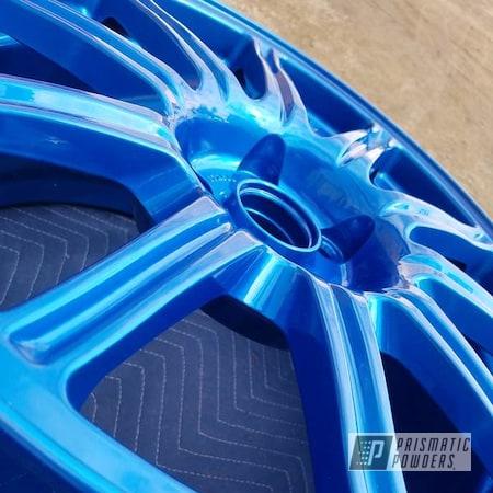 Powder Coating: Wheels,Automotive,rockin rims,Applied Plastic Coatings,ANODIZED BLUE UPB-1394
