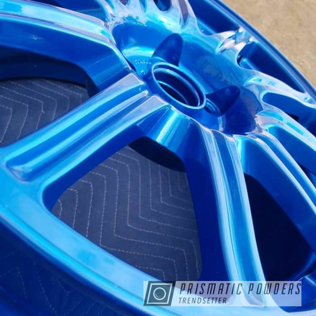 Powder Coated Blue Rockin Rims