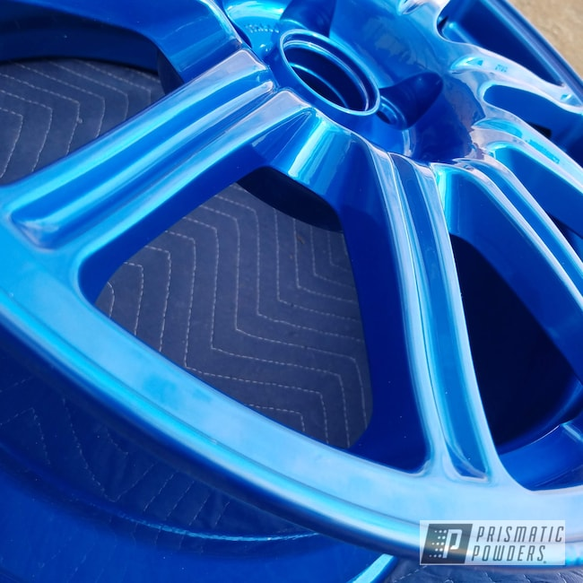 Powder Coating: Wheels,Automotive,rockin rims,Applied Plastic Coatings,ANODIZED BLUE UPB-1394