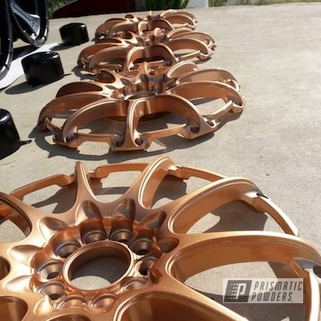 Powder Coated Black, Bronze And Chrome 17 Inch Wheels