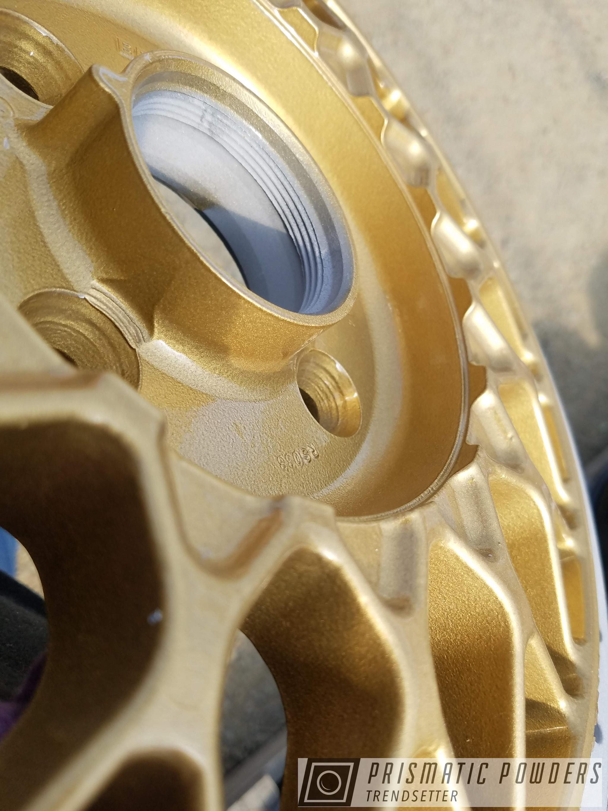 Powder Coating: Wheels,Automotive,rockin rims,Applied Plastic Coatings,Spanish Gold EMS-0940
