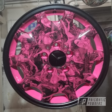 Powder Coated Pink Hydrographic Wheels