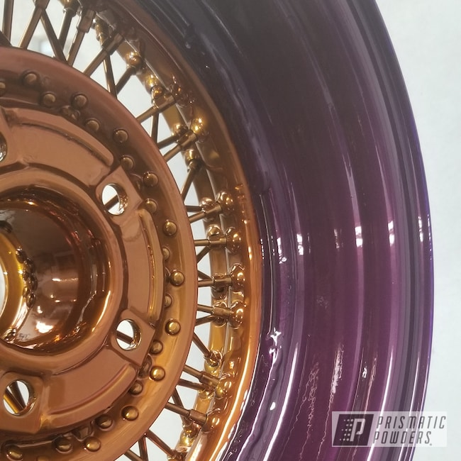 Powder Coating: Wheels,Automotive,Clear Vision PPS-2974,SUPER CHROME USS-4482,Candy Grape II PPB-2796,Illusion Violet PSS-4514