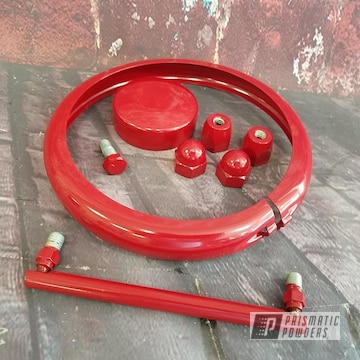 Powder Coated Red Harley Davidson Parts