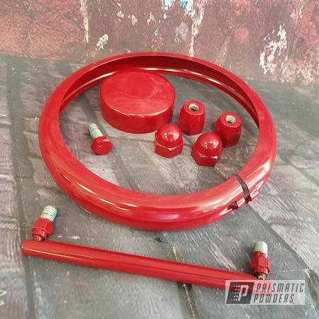Powder Coating: Harley Davidson,Motorcycle Parts,RAL 3003 RubyRed,Motorcycles