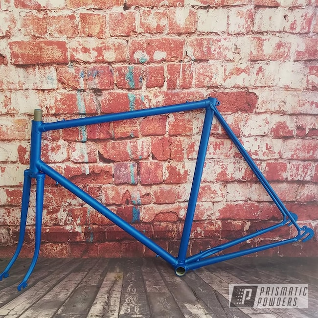 Powder Coating: Bicycles,Illusion Powder Coating,Illusion Lite Blue PMS-4621,Casper Clear PPS-4005,Bicycle Frame