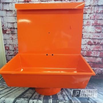 Powder Coated Orange Solvent Tank