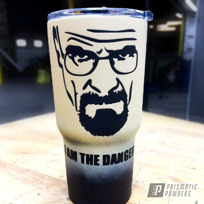 Powder Coating: Tumbler,RTIC,Ink Black PSS-0106,Super Flat Clear PPS-6931,Custom Powder Coated Tumbler,Breaking Bad Theme,Heisenberg,Walter White,Custom 2 Coats,Beijing Beige PSS-4527,RTIC TUMBLER,Miscellaneous