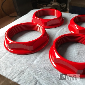 Powder Coated Red Custom Motorcycle Parts