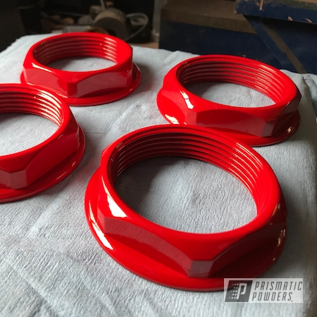Powder Coating: Flame Red PSS-5082,Motorcycle Parts,Motorcycles,Satin Aluminum,50cc