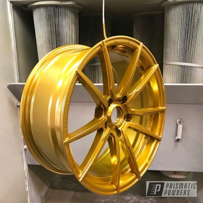 "Powder Coating: Wheels,Automotive,18"",SUPER CHROME USS-4482,Aluminium Wheels,Candy Gold PPB-2331,18"" Wheels"