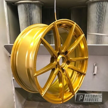 Powder Coated Gold 18 Inch Aluminum Wheels