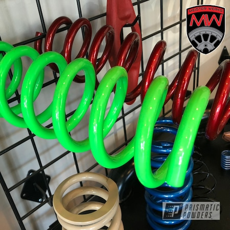 Powder Coating: Lowering Spring,Coilover,BC,Bright Green PSB-5945,Coilovers,Springs,spring,Suspension