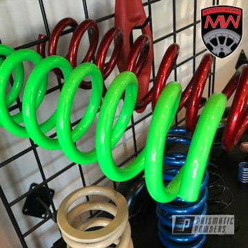 Powder Coated Green Bc Lowering Spring Coilover