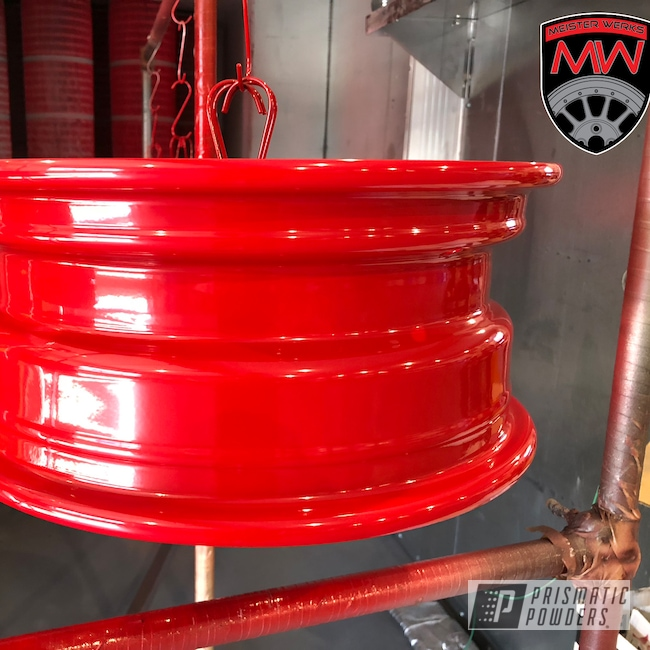 Powder Coating: Wheels,Automotive,Really Red PSS-4416,Steel Wheels,Steel Wheel,Winter Tires,Snow Tires,Steel Rims