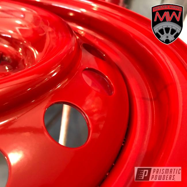 Powder Coating: Wheels,Automotive,Really Red PSS-4416,Steel Wheels,Steel Wheel,Winter Tires,Snow Tires,Steel Rims