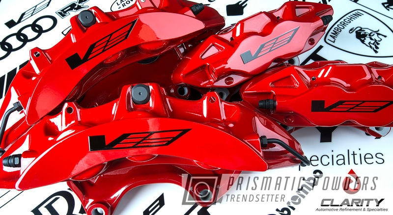 Powder Coating: Automotive,Clear Vision PPS-2974,Really Red PSS-4416,Brembo,Brake Calipers,ATS-V,Cadillac