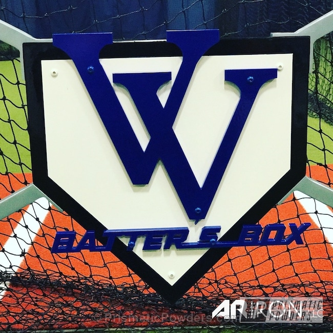 Powder Coating: Batting Cages,Clear Vision PPS-2974,Vegas Valley Batters Box,Illusion Blueberry PMB-6908,Art,Custom Powder Coating,Miscellaneous
