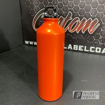 Powder Coated Orange Custom Water Bottle