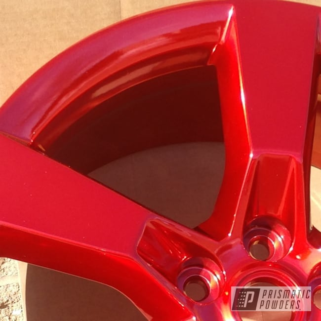 "Powder Coating: Wheels,Automotive,SUPER CHROME USS-4482,LOLLYPOP RED UPS-1506,SS,20"",20"" Aluminum Wheels,Camaro"