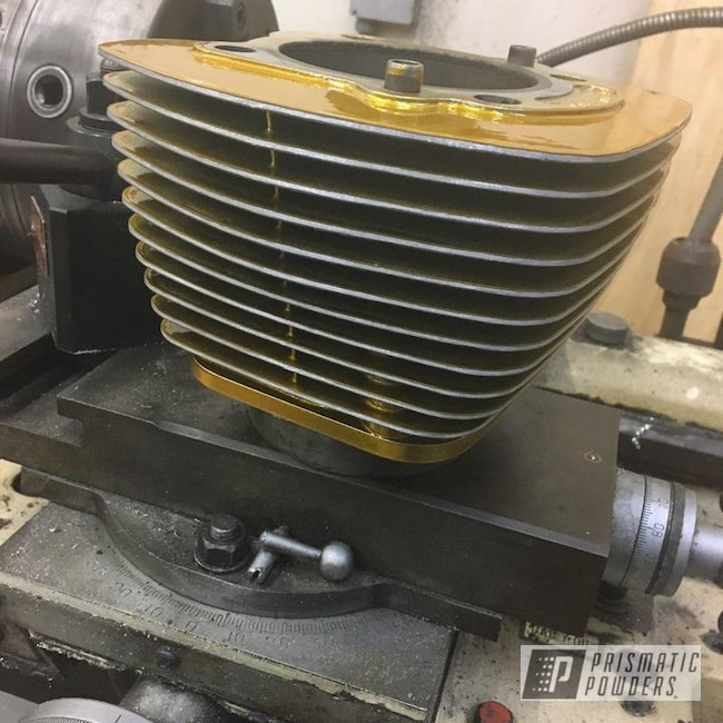 Powder Coating: Harley Davidson,Clear Vision PPS-2974,Motorcycle Parts,Brassy Gold PPS-6530