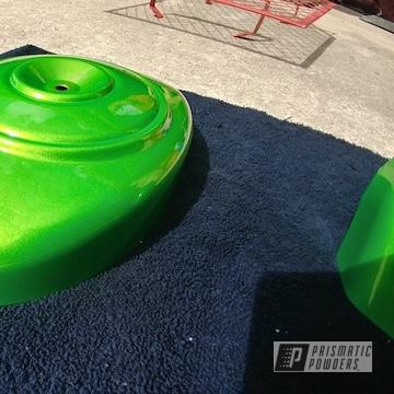 Powder Coated Green Harley Davidson Parts