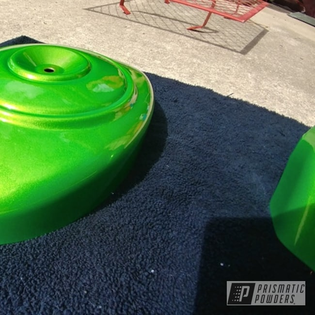 Powder Coating: Harley Davidson,Illusion Lime Time PMB-6918,Clear Vision PPS-2974,Motorcycle Parts,Motorcycles