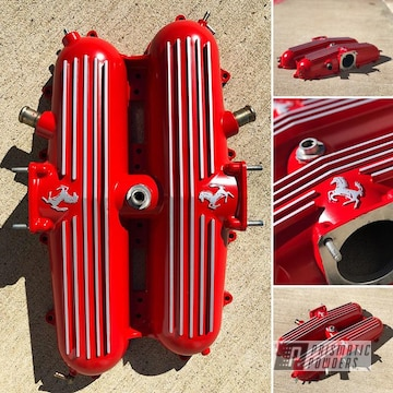 Powder Coated Red Refinished 74 Ferrari Valve Covers