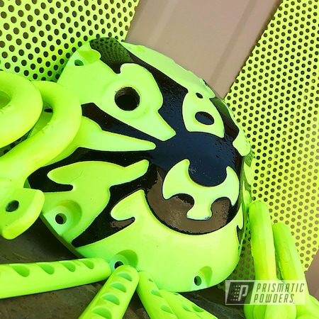 Powder Coating: Automotive,Jeep Parts,Ink Black PSS-0106,diff cover,Neon Yellow PSS-1104,Differential Cover,Jeep,Jeep Accent,Wrangler