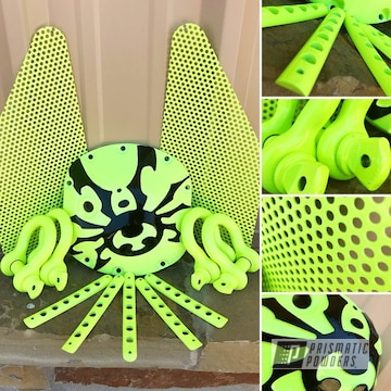 Powder Coated Neon Yellow Custom Jeep Wrangler Parts