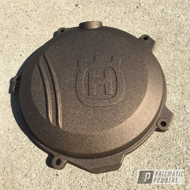 Powder Coating: Oil Rubbed Bronze Light PCB-4333,Husqvarna,Motorcycles,Clutch Cover,Dirt Bike