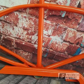 Powder Coated Orange Bicycle Frame