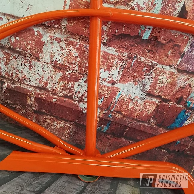 Powder Coating: Bicycles,Bicycle Parts,Chevy Orange PSS-0163,Bicycle Frame