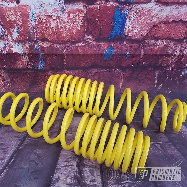 Powder Coating: ATV,Springs,RAL 1018 Zinc Yellow,Suspension