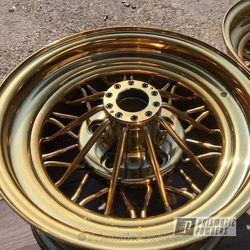Wheels Coated In Transparent Gold