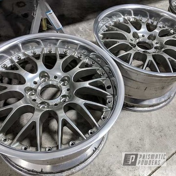Powder Coated Chrome 2 Piece Aluminum Wheels