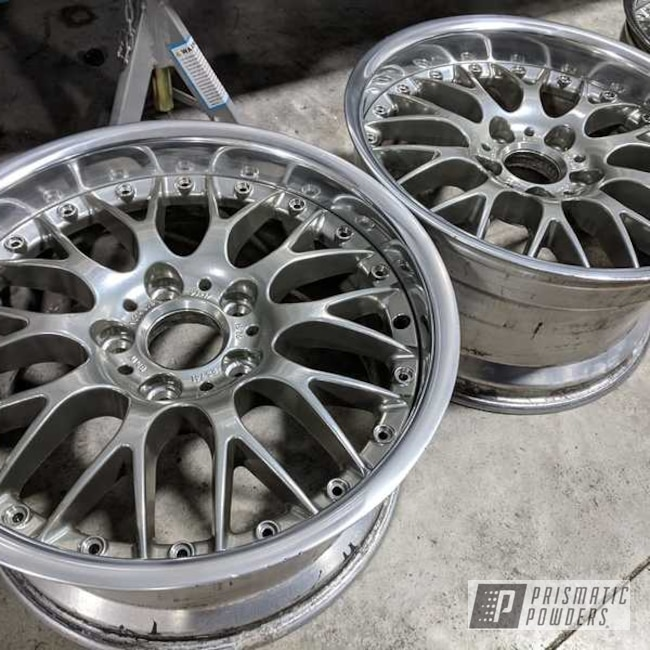 Powder Coating: Wheels,Automotive,Custom Rims,Clear Vision PPS-2974,SUPER CHROME USS-4482,2 Piece Wheels,Two Color Application,Aluminum Rim