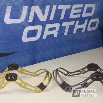Powder Coated Silver Custom Orthopedic Knee Braces