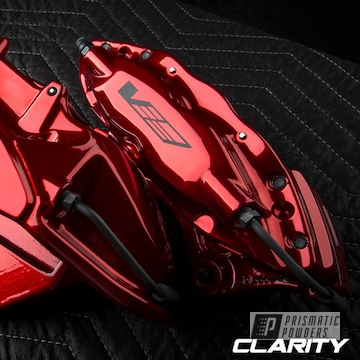 Powder Coated Candy Red Cadillac Cts-v Brake Calipers