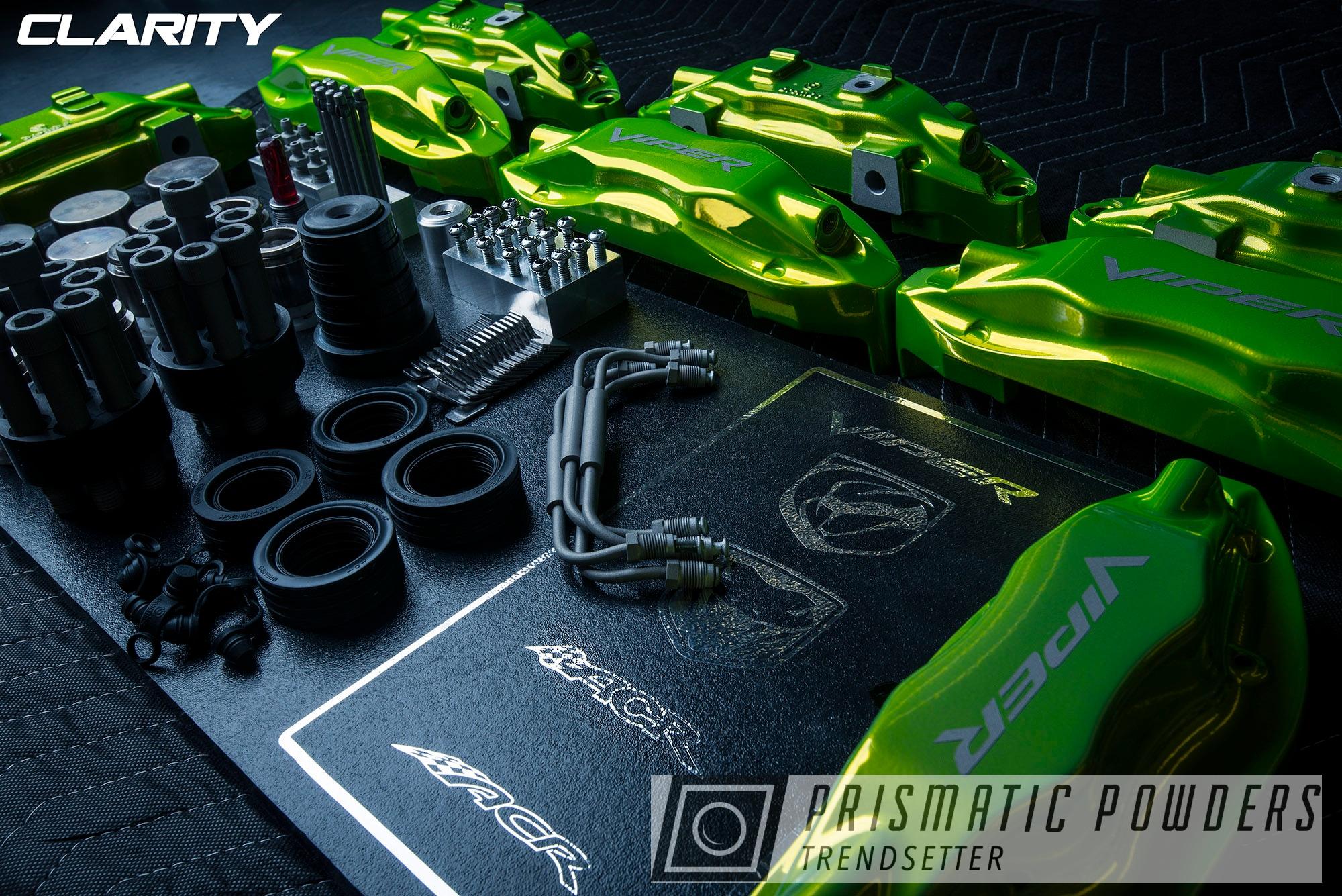 Powder Coating: Automotive,Brakes,SUPER CHROME USS-4482,Brembo,Brake Calipers,Dodge,viper,Shocker Yellow PPS-4765,Dodge Viper,driveclarity