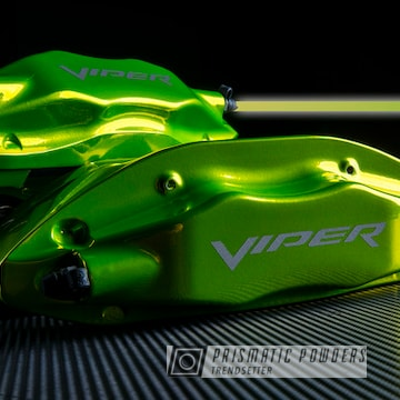Powder Coated Candy Yellow/green Dodge Viper Brake Calipers