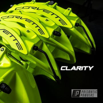 Powder Coated Neon Yellow Chevy Corvette Zr1 Brake Calipers