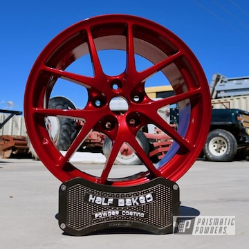 Powder Coated Red 17 Inch Subaru Wheels