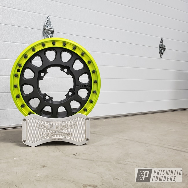 Powder Coating: Wheels,Mega Grey PMB-6831,Method,RZR,Two Tone,Casper Clear PPS-4005,Shocker Yellow PPS-4765
