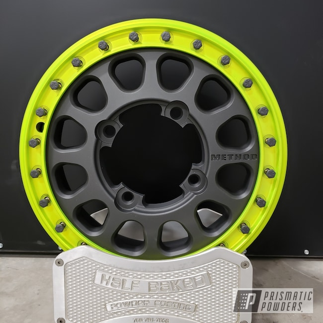 Powder Coating: Wheels,Mega Grey PMB-6831,Method,RZR,Two Tone,Casper Clear PPS-4005,Shocker Yellow PPS-4765
