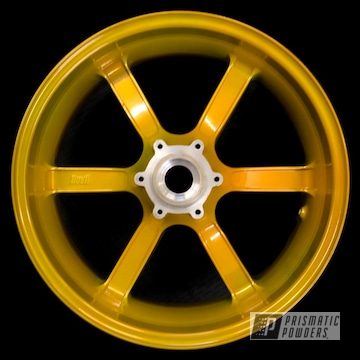 Powder Coated Gold Custom Buell Motorcycle Wheel
