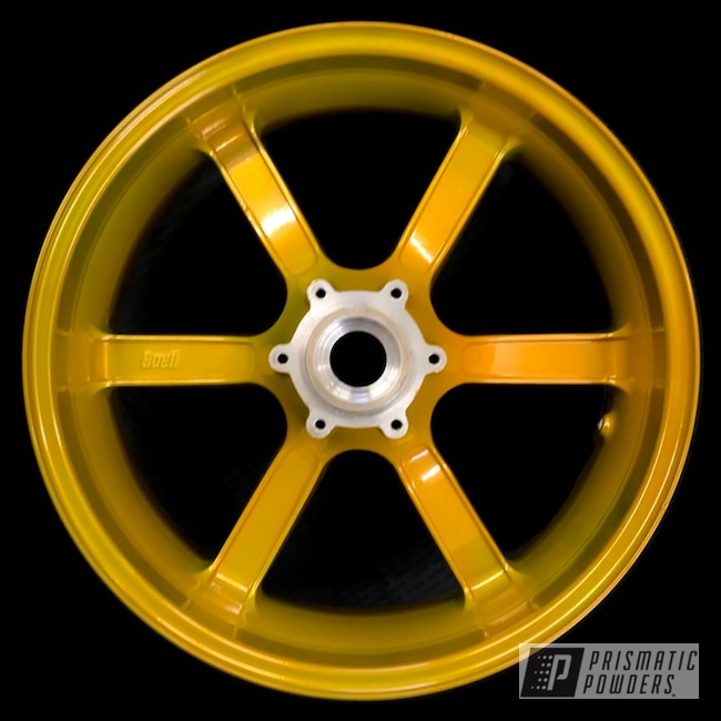 Powder Coating: Wheels,SUPER CHROME USS-4482,Buell,Aluminium Wheels,Street Bike,Memphis Gold PPB-5983,Motorcycles,Bike Rim,Aluminum Rim